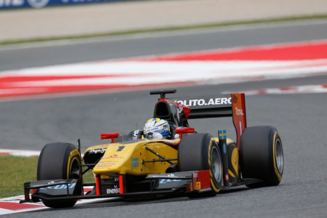The session ended with Ericsson's first GP2 pole position (Photo Credit: Alastair Staley/GP2 Series Media Service)