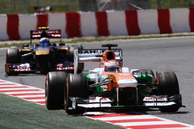 After his fourth in Bahrain di resta added more points in Spain (Photo Credit: Force India F1 Team)