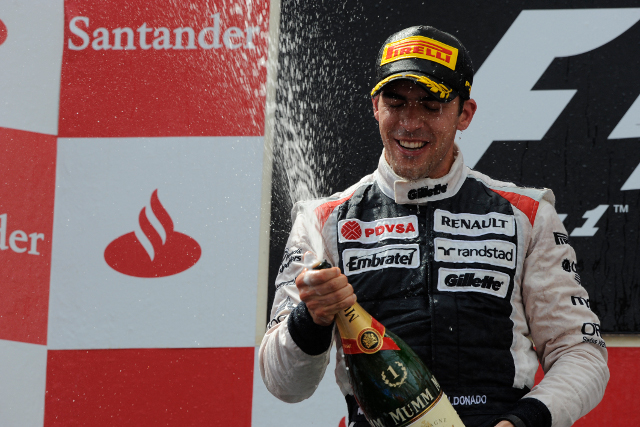 Pastor Maldonado took a surprise win for Williams in Barcelona last year (Photo Credit: Pirelli Media)