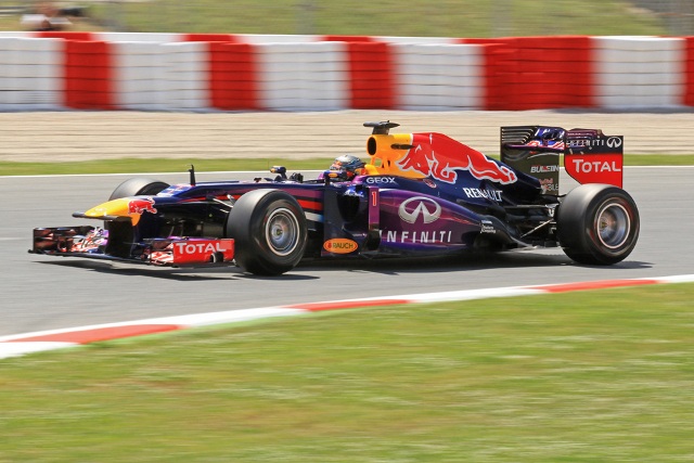 Third fastest Vettel got the better of the session of the Red Bull drivers (Photo Credit: Octane Photographic Ltd)