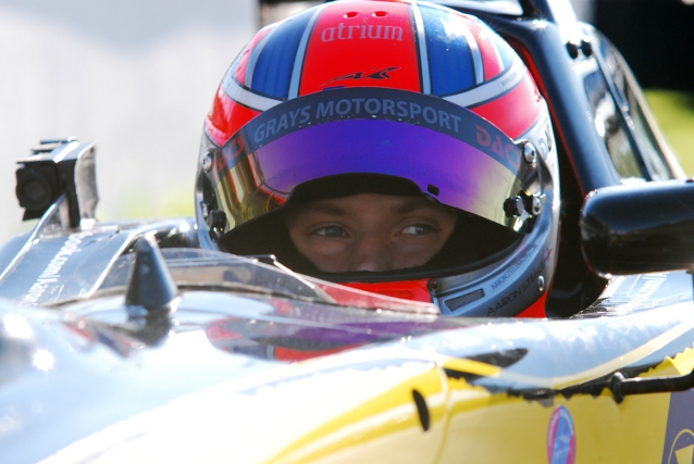 Steele won the MSV F3 Cup in 2011 with Grays Motorsport (Photo Credit: Karl Bowdrey)
