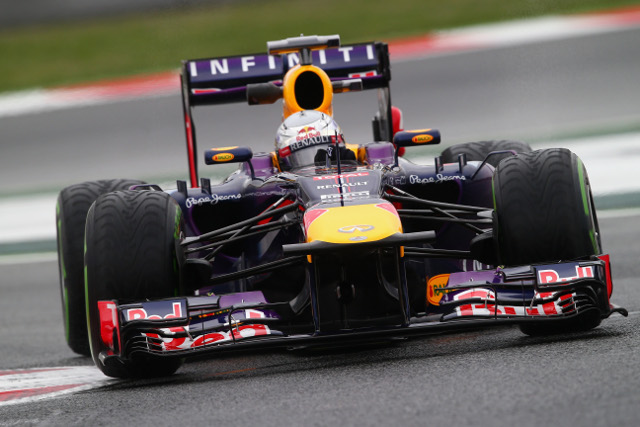 Sebastian Vettel led the way in the second session of the European F1 season (Photo Credit: Red Bull Racing media)