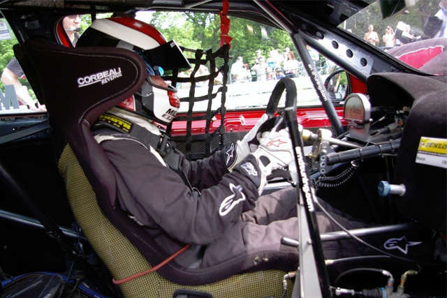 Aaron Mason BTCC Oulton park cockpit 2013