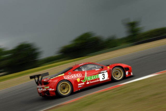 Simonsen put the Ferrari fastest, the rain helped keep him there (Credit: Chris Gurton Photography)