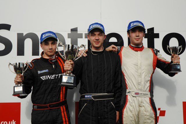 Race three GT5 Challenge podium Snett