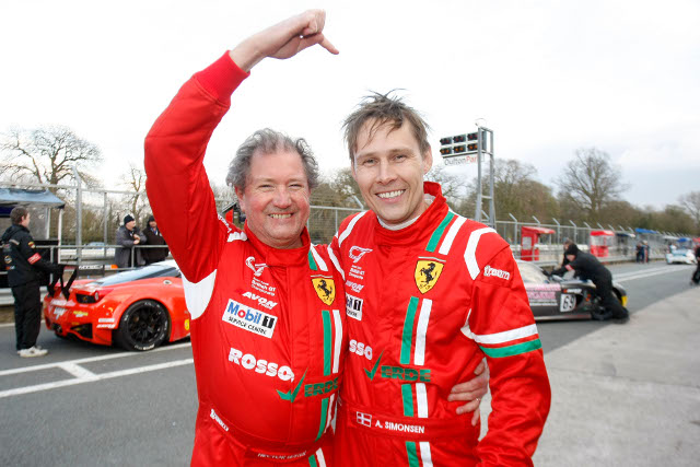 Simonsen with regular British GT co-driver Hector Lester (Credit: Jakob Ebrey)
