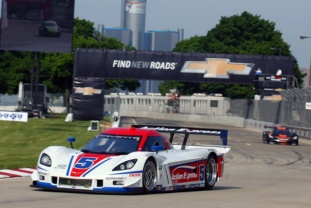 Barbosa and Fittipaldi returned Action Express Racing to the podium in Detroit (Credit: Grand-Am)