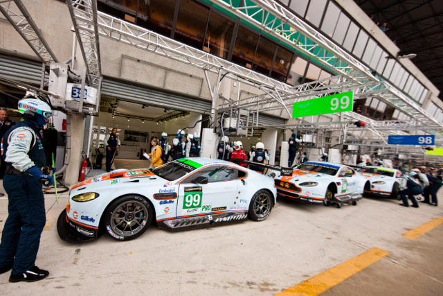Aston Martin Racing's five car, 17 driver team negotiated the test day without problems (Credit: Aston Martin Racing)