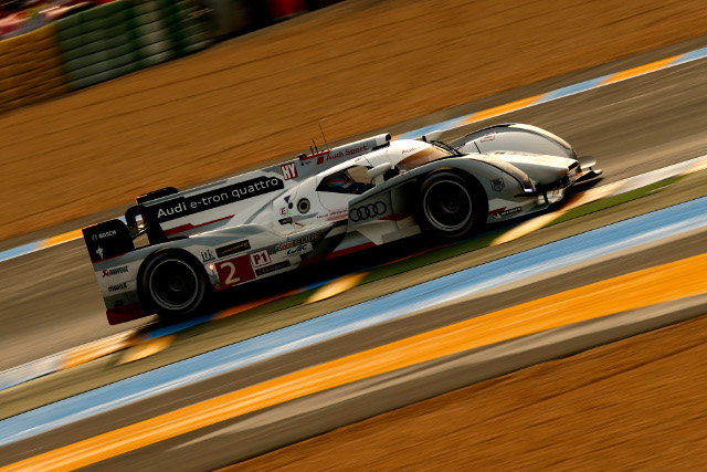 Duval dodged the showers and red flags to lead the session (Credit: Audi Motorsport)