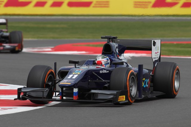 Bird took a third win of 2013, RUSSIAN TIME at first and third from the race (Credit: Malcolm Griffiths/GP2 Series Media Service)