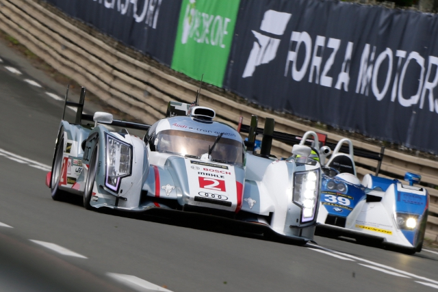 Duval continued his fine form at Le Mans, having led the test and practice running (Credit: Audi Motorsport)