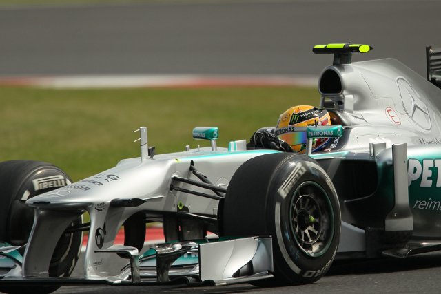 Hamilton will lead a Mercedes 1-2 off from the front row (Credit: Octane Photographic Ltd)