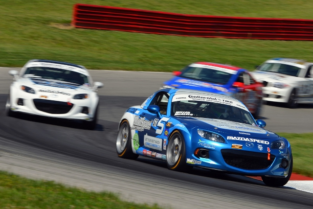 McAleer's Mid-Ohio weekend would come to an abrupt end (Credit: CJ WIlson Racing)