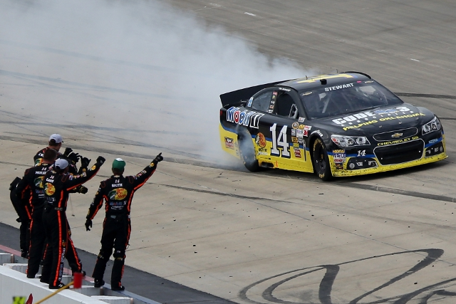 The victory was stewart's first of the 2013 season (Credit: Mark Wilson/Getty Images)