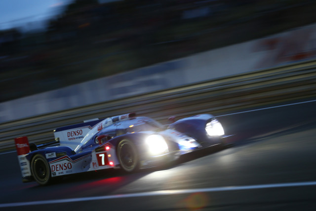 Kazuki Nakajima was the fastest Toyota driver on a day filled with delays (Credit: Toyota Racing)
