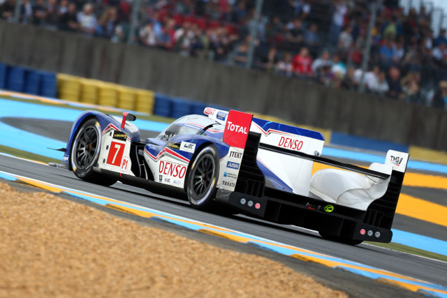 The #7 car was pushed back to fifth by Sarrazin's late improvement (Credit: Toyota Racing)