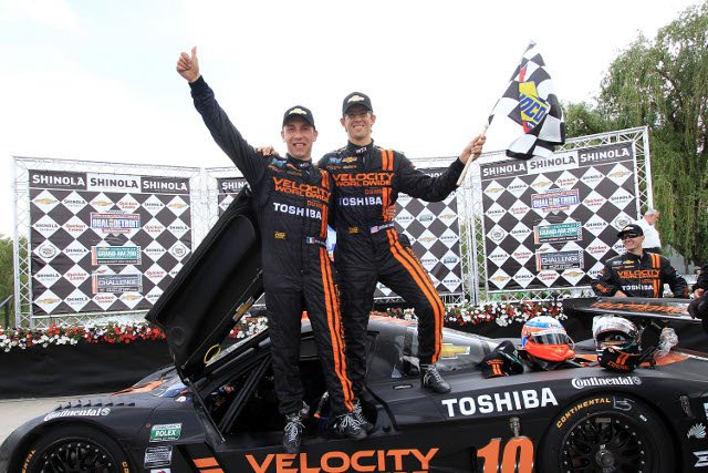 Angelelli (left) and Taylor dominated the two hour race en route to victory (Credit: Grand-Am)