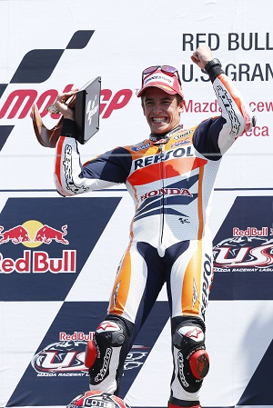 The spoils of victory for Marquez (Photo Credit: Repsol Honda)