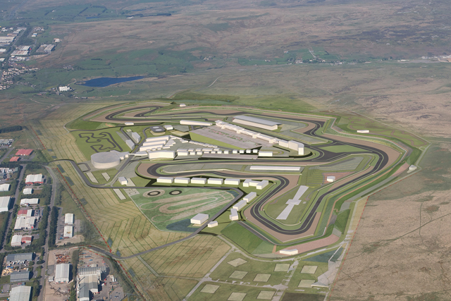 Circuit of Wales 2015-2016 initial layout drawing