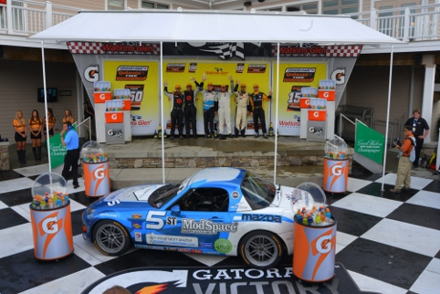 McAleer and Miller celebrate a second win of the season (Credit: CJ Wilson Racing)