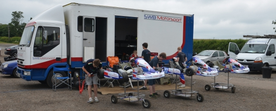 SWB Have Brought Their Professional Racing Set-Up Into The Karting Paddocks