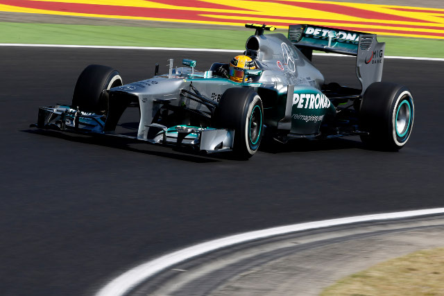 Hamilton added to his Silverstone and Nurburgring poles (Credit: Mercedes GP)