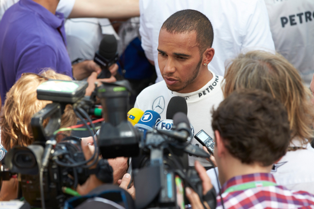 Despite his one lap pace Hamilton remains sceptical (Credit: Mercedes GP)