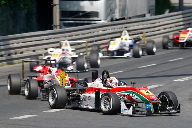 After being penalised from a race one podium, Lynn took victory in race two (Credit: FIA F3 European Championship)