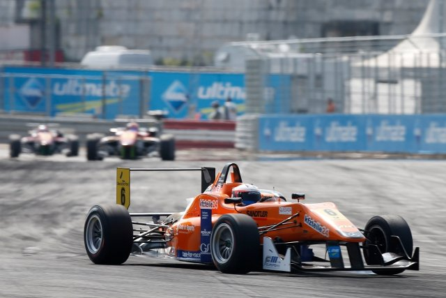 The win was only secured after Rosenqvist appealed his disqualification (Credit: FIA Formula 3 European Championship/Thomas Suer)