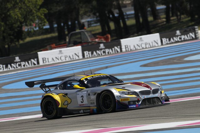 Martin completed Marc VDS' first Blancpain Series win of 2013 (Credit: V-IMAGES.com/Fabre)