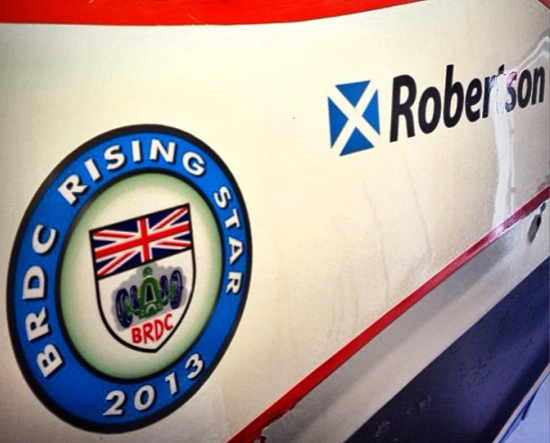 Robertson Proudly Displaying The Club's Blue Roundel On His Car - Photo Credit: Charlie Robertson