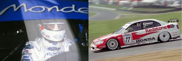 Mansell (left) and Kristensen (right) starred in Supertourers