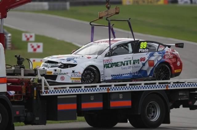Plato crash Snetterton 2013