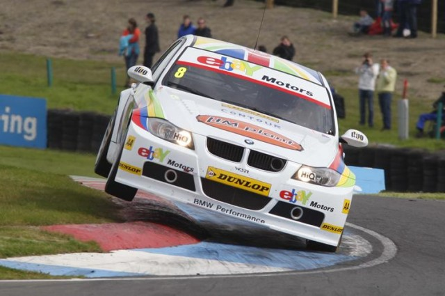 BMW flew - literally - at Knockhill last year (Photo: btcc.net)