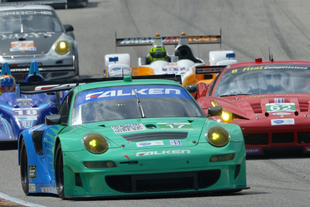The Falken Tire Porsche showed strong pace in the wet at Road America (Credit: Kelsi Nilsson)The Falken Tire Porsche showed strong pace in the wet at Road America (Credit: Kelsi Nilsson)
