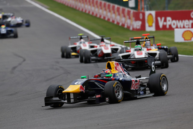 The Red Bull junior got the better of the ART teammates (Credit: Alastair Staley/GP3 Media Service)