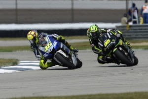 Rossi left it very late to snatch fourth from Crutchlow (Photo Credit: Yamaha)