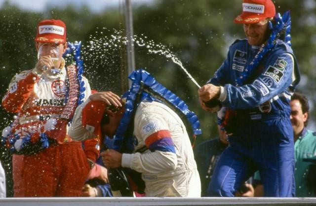 Harvey celebrates, Cleland (l) ponders what could have been(Photo: btcc.net)