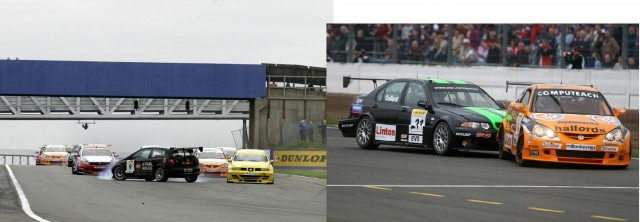 Chilton (l) had a scary spin in '05; Neal (r) survived a rough weekend (Photo: btcc.net)