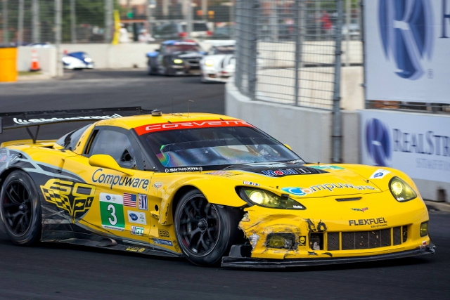 Corvette Racing finished 1-2 in GT, but couldn't avoid incident entirely (Credit: Richard Prince for Corvette Racing)