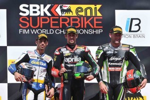 Laverty celebrates his first win since Portimao (Photo Credit: WorldSBK.com)