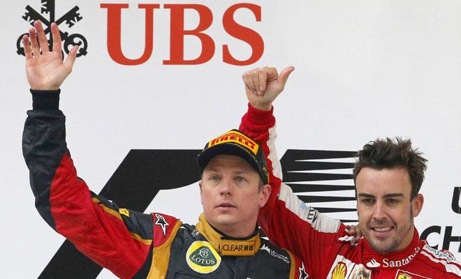 Raikkonen and Alonso