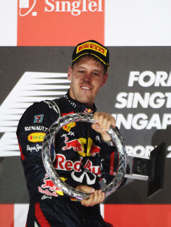 Vettel took the win last year, but only after Hamilton retired - Credit: Mark Thompson/Getty Images