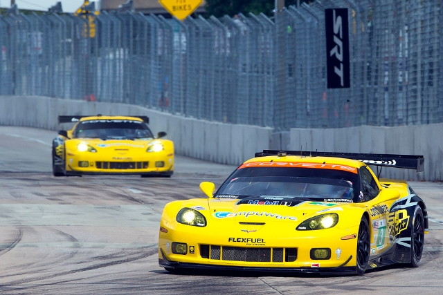 Magnussen and Garcia fought to the class win (Credit: Richard Prince/Corvette Racing Photo)