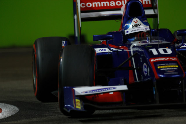 Palmer will head an all Carlin front row for the first race of the weekend (Credit: Alastair Staley/GP2 Media Service)