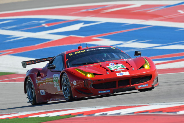 Matteo Malucelli powered off the back of the grid (Credit: ferrari.com)