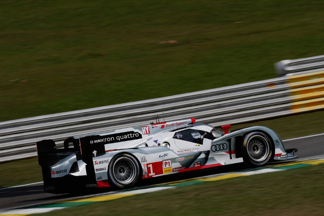 A late lap from Treluyer moved the #1 team clear in the fight for pole (Credit: Audi Motorsport)
