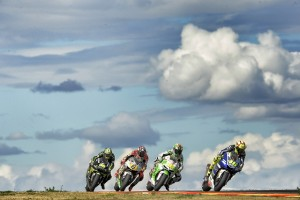 Rossi had to work hard to secure the last spot on the podium (Photo Credit: Yamaha)
