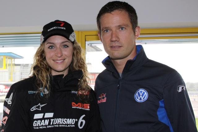 Amy Williams And Sebastien Ogier