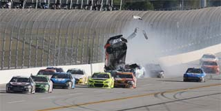 Dillon was unharmed in the last lap accident (Credit: NASCAR via Getty Images)